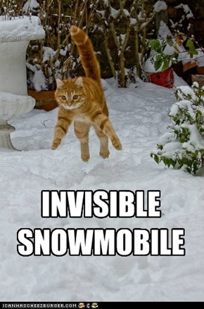 INVISIBLE  SNOWMOBILE