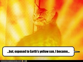 ...but, exposed to Earth's yellow sun, I became...