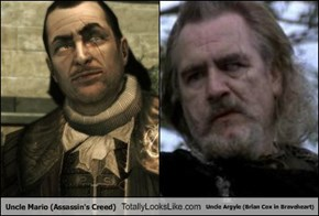 Uncle Mario (Assassin's Creed) Totally Looks Like Uncle Argyle (Brian Cox in Braveheart)