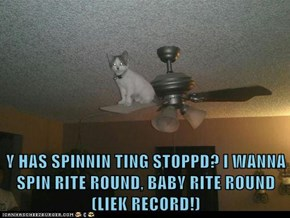 Y HAS SPINNIN TING STOPPD? I WANNA SPIN RITE ROUND, BABY RITE ROUND (LIEK RECORD!)