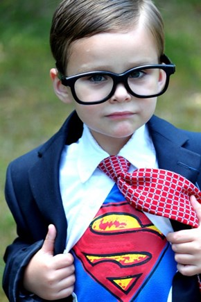 Young Clark Kent Still Liked to Wear Suits