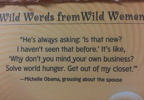 Michelle's Gettin' Real Sick of Your Nagging, Barry
