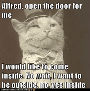 Alfred, open the door for me.
