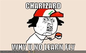 CHARIZARD  WHY U NO LEARN FLY