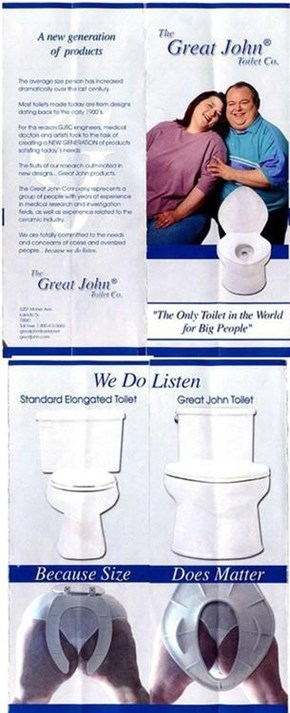 "Finally, The Toilet That Says ""I've Given Up."""
