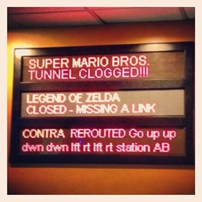 Sign at the New Wreck-It Ralph Ride