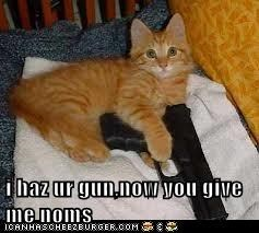 i haz ur gun,now you give me noms