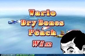 Wario's goin' in dry...