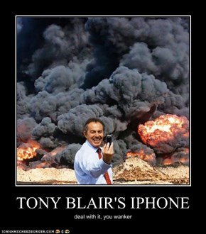 TONY BLAIR'S IPHONE