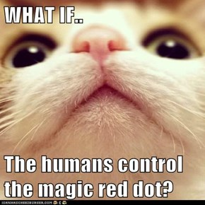 WHAT IF..  The humans control the magic red dot?