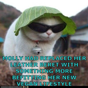 MOLLY HAD REPLACED HER LEATHER BERET...