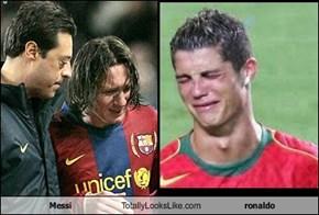 Messi Totally Looks Like ronaldo