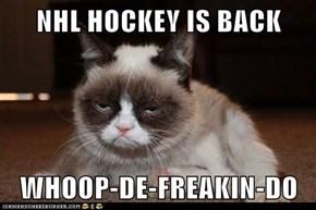 NHL HOCKEY IS BACK  WHOOP-DE-FREAKIN-DO
