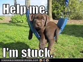 Help me.  I'm stuck.