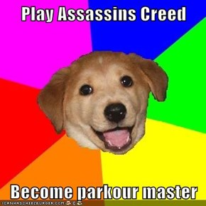 Play Assassins Creed  Become parkour master