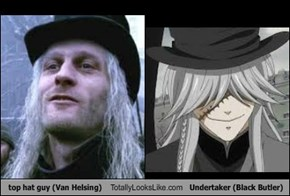 top hat guy (Van Helsing) Totally Looks Like Undertaker (Black Butler)