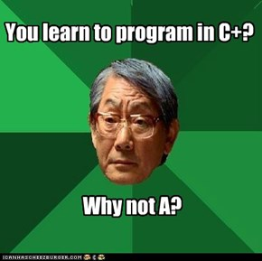 At least try for C++