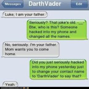 i am your father😠