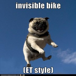 invisible bike  (ET style)