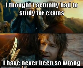 I thought I actually had to study for exams  I have never been so wrong