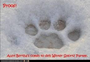 Ohhhh nooooes! Aunt Bertha's coming!