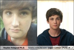 Hayden Hobgood Ph.D. Totally Looks Like Logan Lerman (Perks of...)