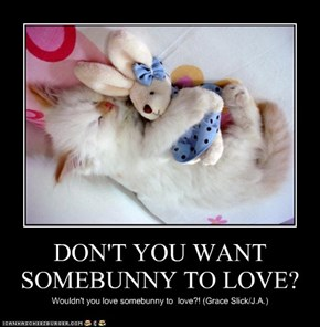 DON'T YOU WANT SOMEBUNNY TO LOVE?