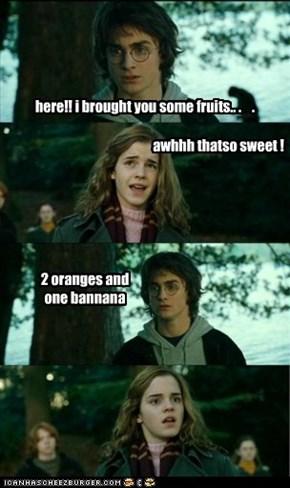 2 oranges and  one bannana