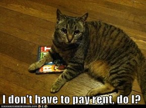 I don't have to pay rent, do I?