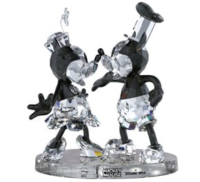 Steamboat Willie Crystal Figurines