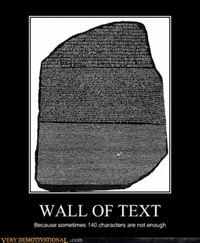 WALL OF TEXT