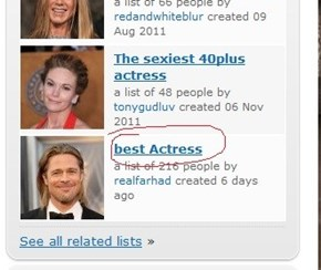 Best Actress List Fail