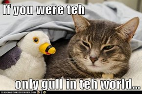 If you were teh   only gull in teh world...