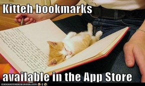 Kitteh bookmarks  available in the App Store