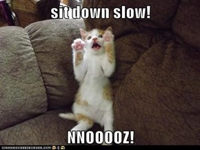 sit down slow!  NNOOOOZ!