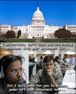 Government Shutdown - Tech Support Edition