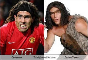 Caveman Totally Looks Like Carlos Tevez