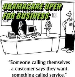 OBAMACARE OPEN FOR BUSINESS