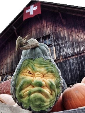 Autumn Means It's Time to Start Showing off the Insane Pumpkin Art of Ray Villafane