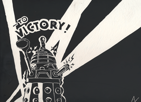 To Victory Dalek Poster Scratchboard