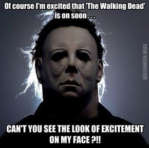 Excited that The Walking Dead is on!