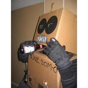 On Halloween Robots Drink Beer