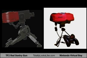 TF2 Red Sentry Gun Totally Looks Like Nintendo Virtual Boy