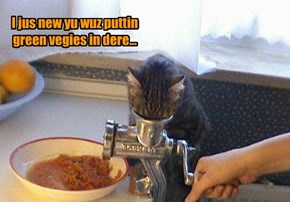 I jus new yu wuz puttin green vegies in dere...