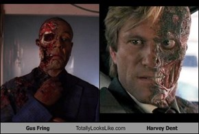 Gus Fring Totally Looks Like Harvey Dent