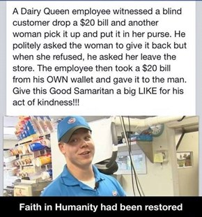 A Fast Food Employee Restores Some Faith