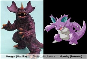 Baragon (Godzilla) Totally Looks Like Nidoking (Pokemon)