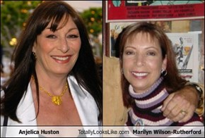 Anjelica Huston  Totally Looks Like Marilyn Wilson-Rutherford