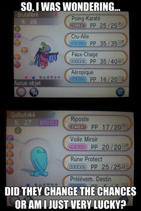 Anyone Else Being Oddly Lucky With Pokémon X/Y?