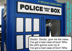 """A Whovian Dedication"" (TTO ""Bad Case of Loving You (Doctor, Doctor)"" by Robert Palmer)"